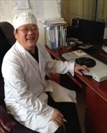 April 2014 Dr Yin Shoulong, rural general practitioner, in his clinic in Tai Shitun Village in the Mi Yun District north of Beijing